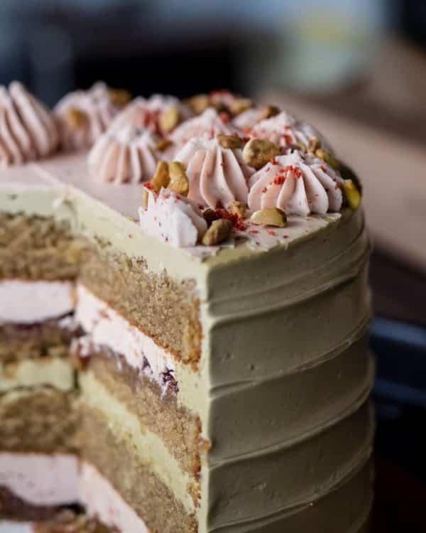 Ellie's Pistachio Strawberry Cake