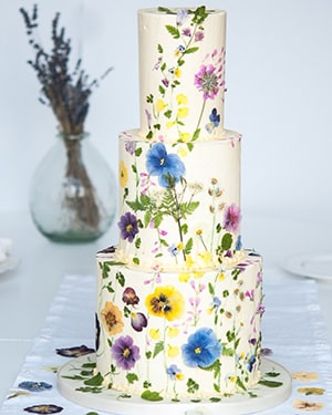 Pressed Floral Cakes